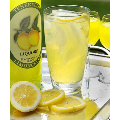 Licor Limoncello, típico italiano