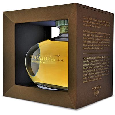 Caja de la botella de tequila Rocado