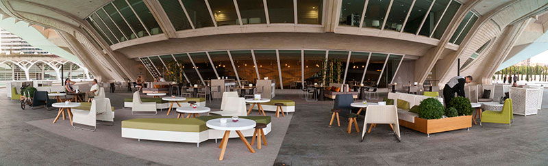 Terraza del restaurante Contrapunto