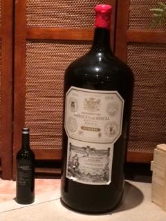 botellon 26 litros marques de Riscal