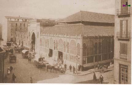 Mercado Atarazanas en el siglo XIX