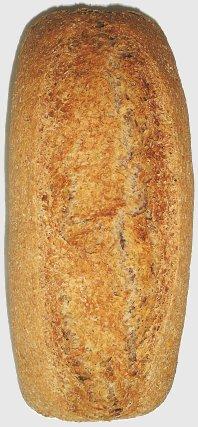 Pan integral de trigo blanco