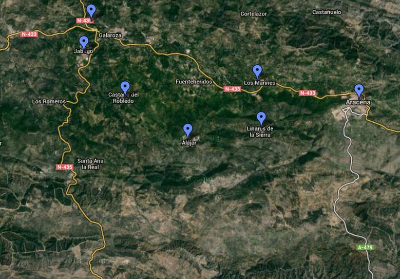 Mapa Ruta Jabugo