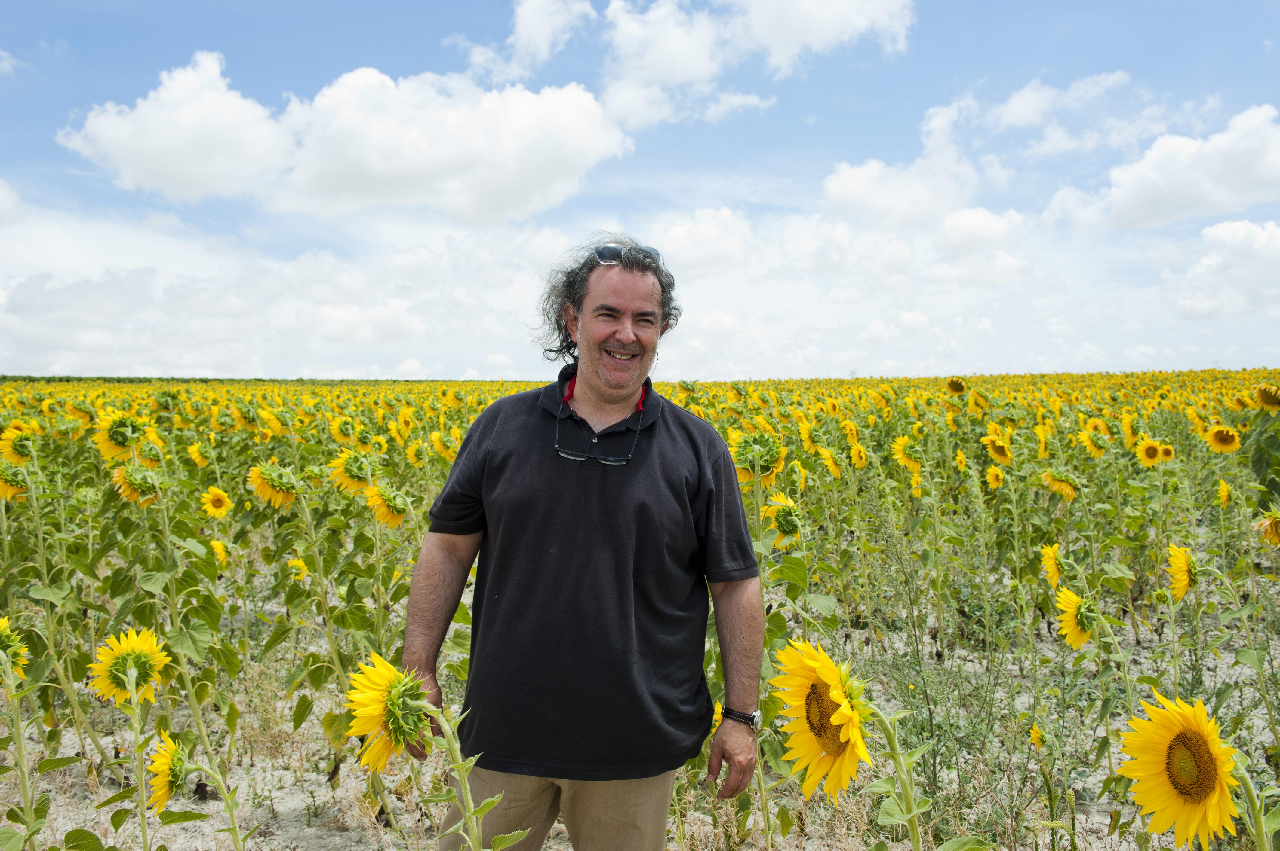 Entrevista a Luis Gutierrez, foto en el campop