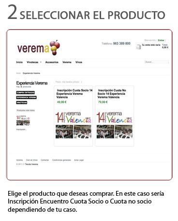 Selección del producto en tienda para el pago de las catas en la Experiencia Verema Valencia 2015
