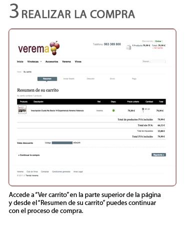 Pago de las catas comentadas para la Experiencia Verema Valencia 2015
