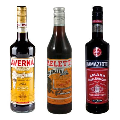 Amaro Averna, Ramazzotti y Amaro Meletti