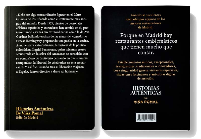 Libro Historias Auténticas by Viña Pomal