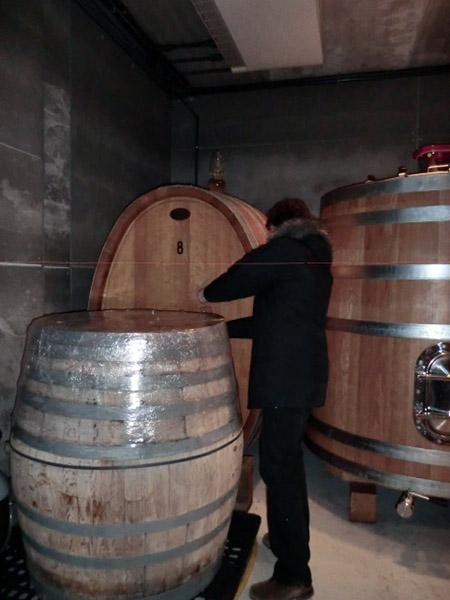 Visita a Bernabeleva catando de barricas