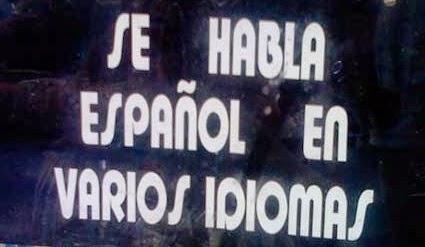 Para que luego digan que no somos políglotas... :-D