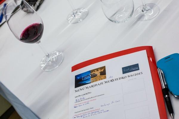 Menú maridaje presentación nuevos vinos Murviedro