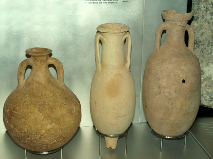 Ánforas romanas para almacenar vino