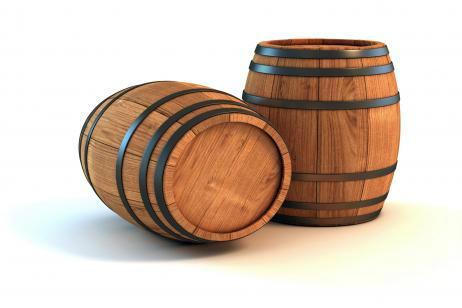 Barricas de roble empleadas para transportar vino