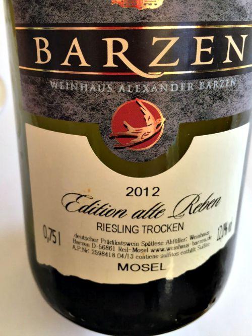 Barzen Riesling Edition Alte Reben 2012