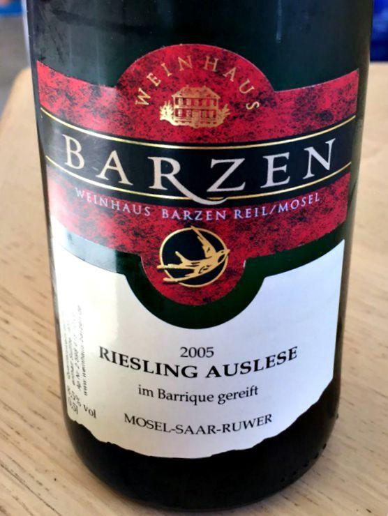 Barzen Riesling Auselese 2005