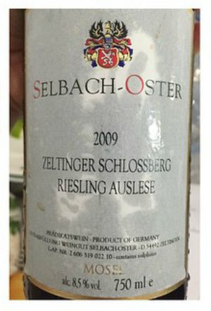 Selbach-Oster Schlossberg Auselse 2009, cata Los Innombrables