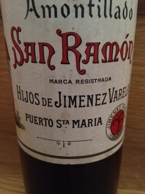 Amontillado San Ramón - Hijos de Jiménez Varela (años 60)