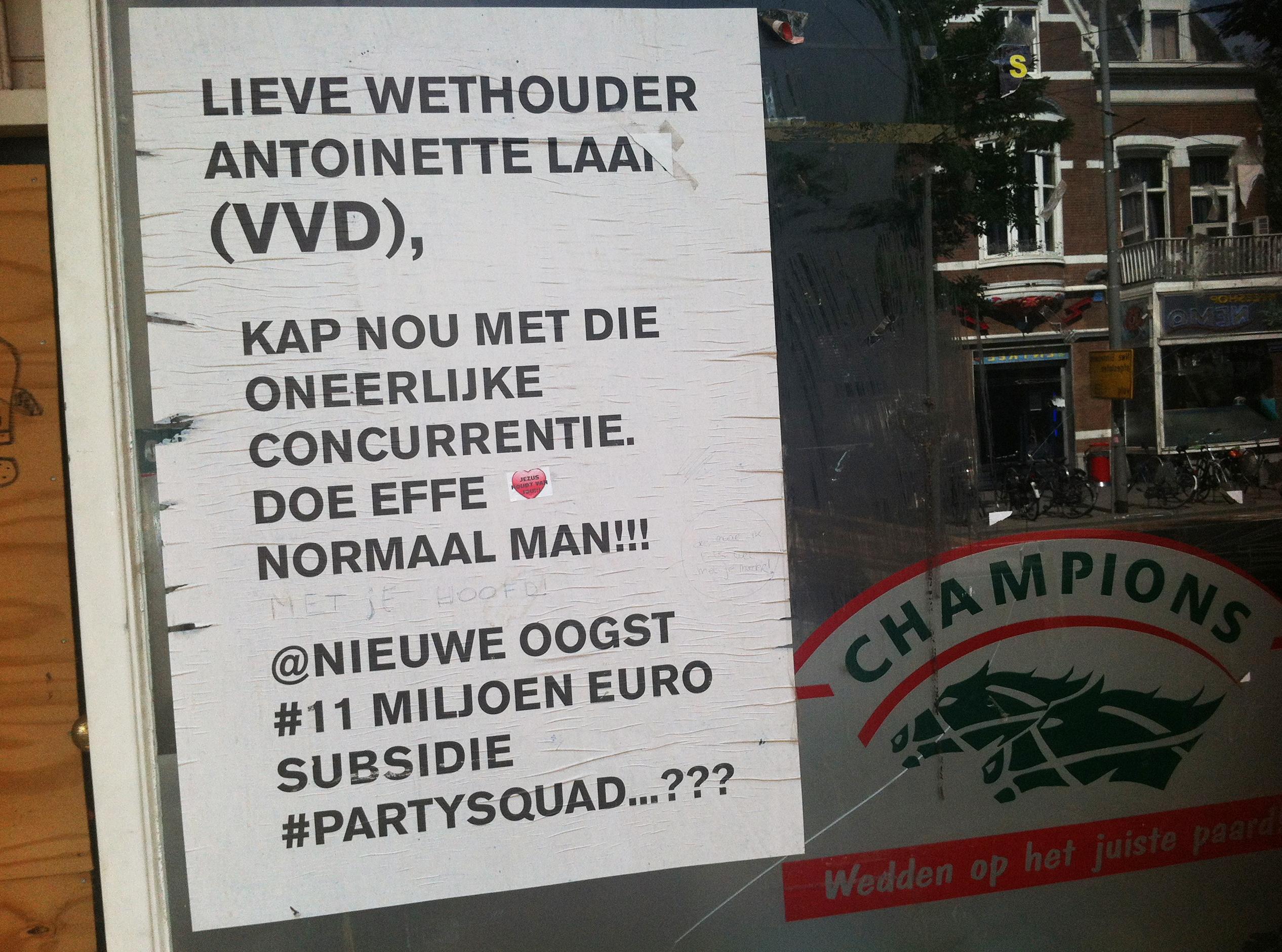 openbare brief aan wethouder Laan, najaar 2011 verspreid door Rotterdam