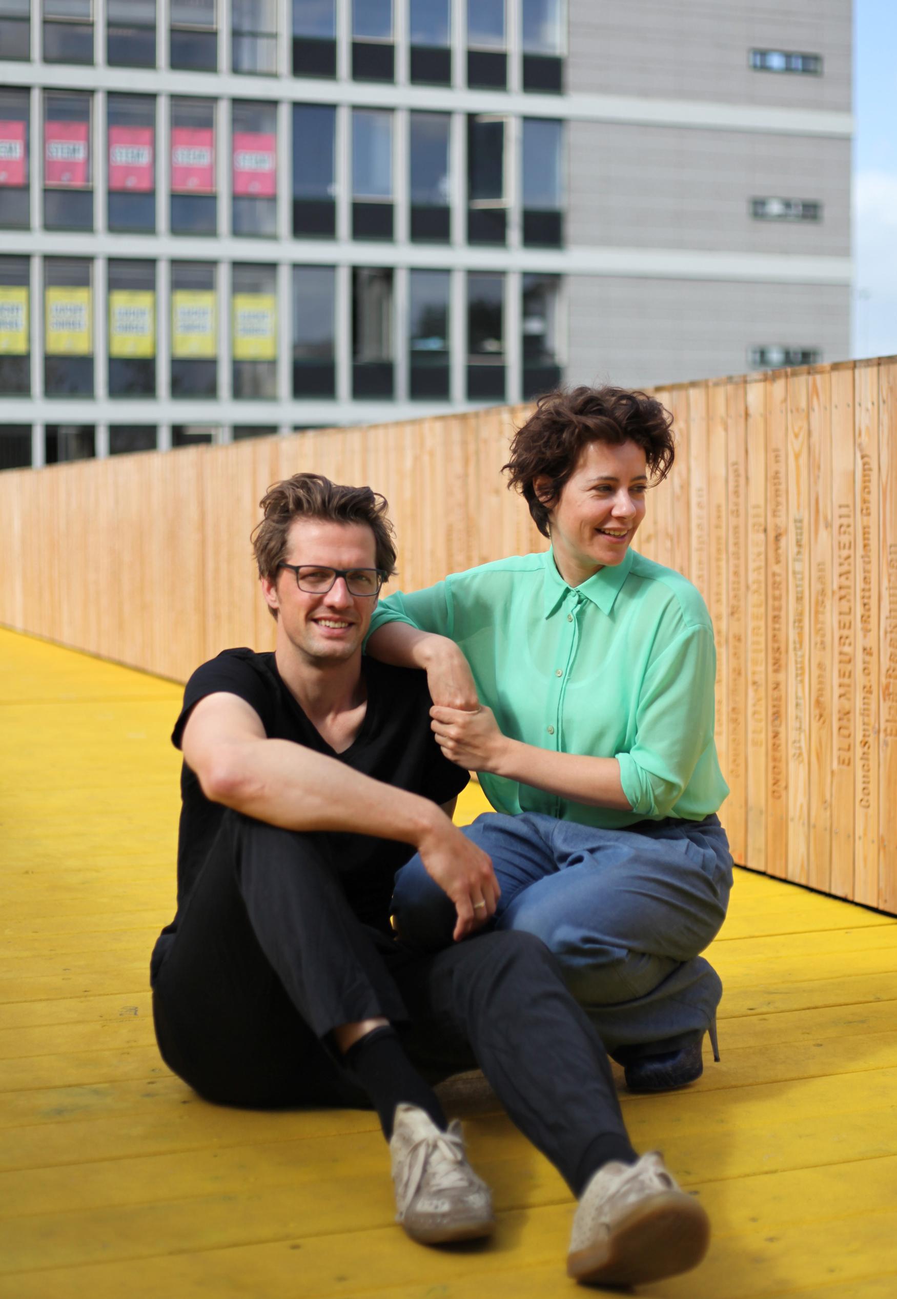 Kristian Koreman en Elma van Boxel op de Luchtsingel