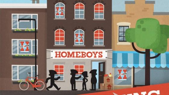 Uitnodiging housewarming Homeboys