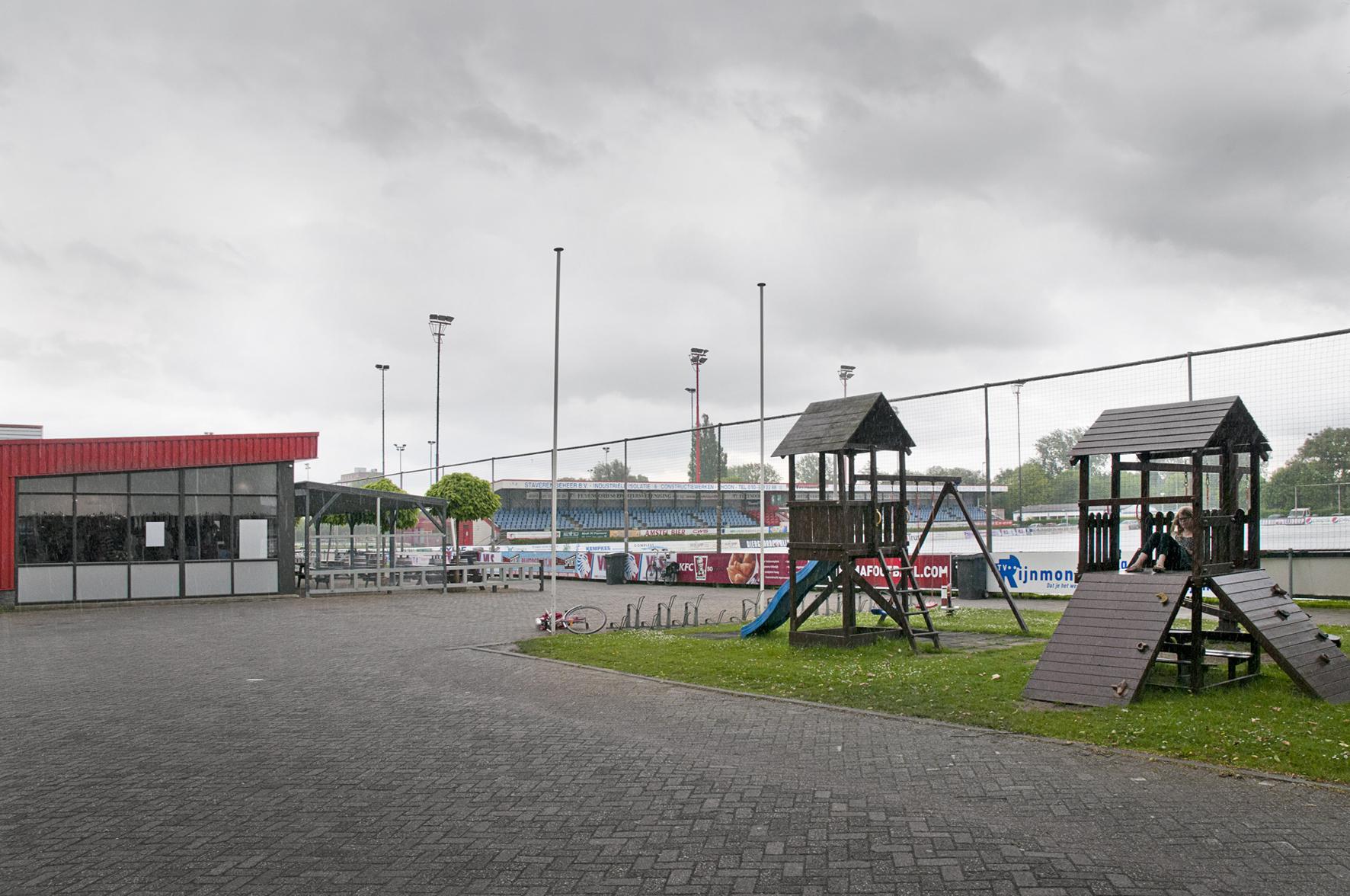 Varkenoord, het trainingscomplex van Feyenoord.