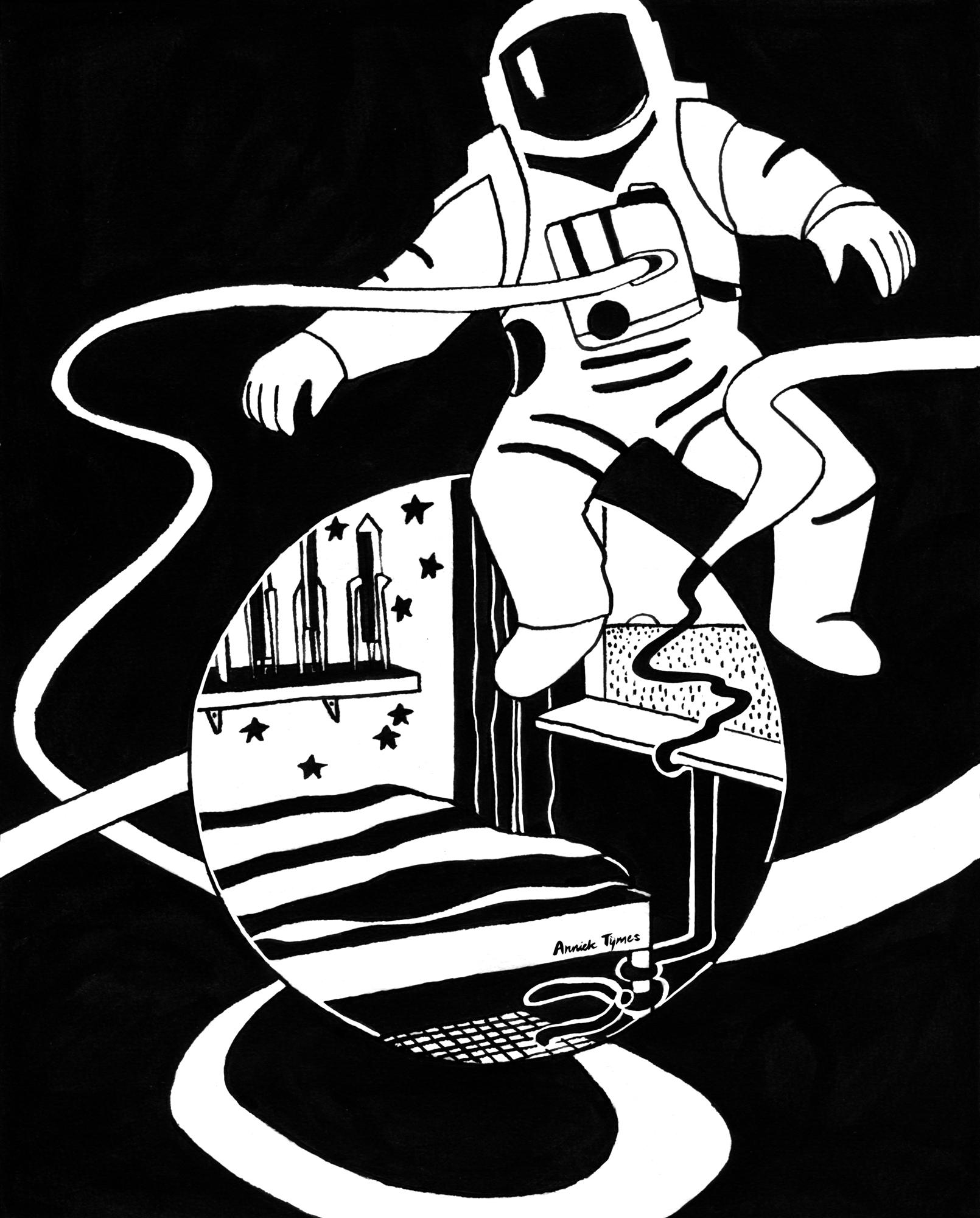 Dromen van Mars, in een jongenskamer