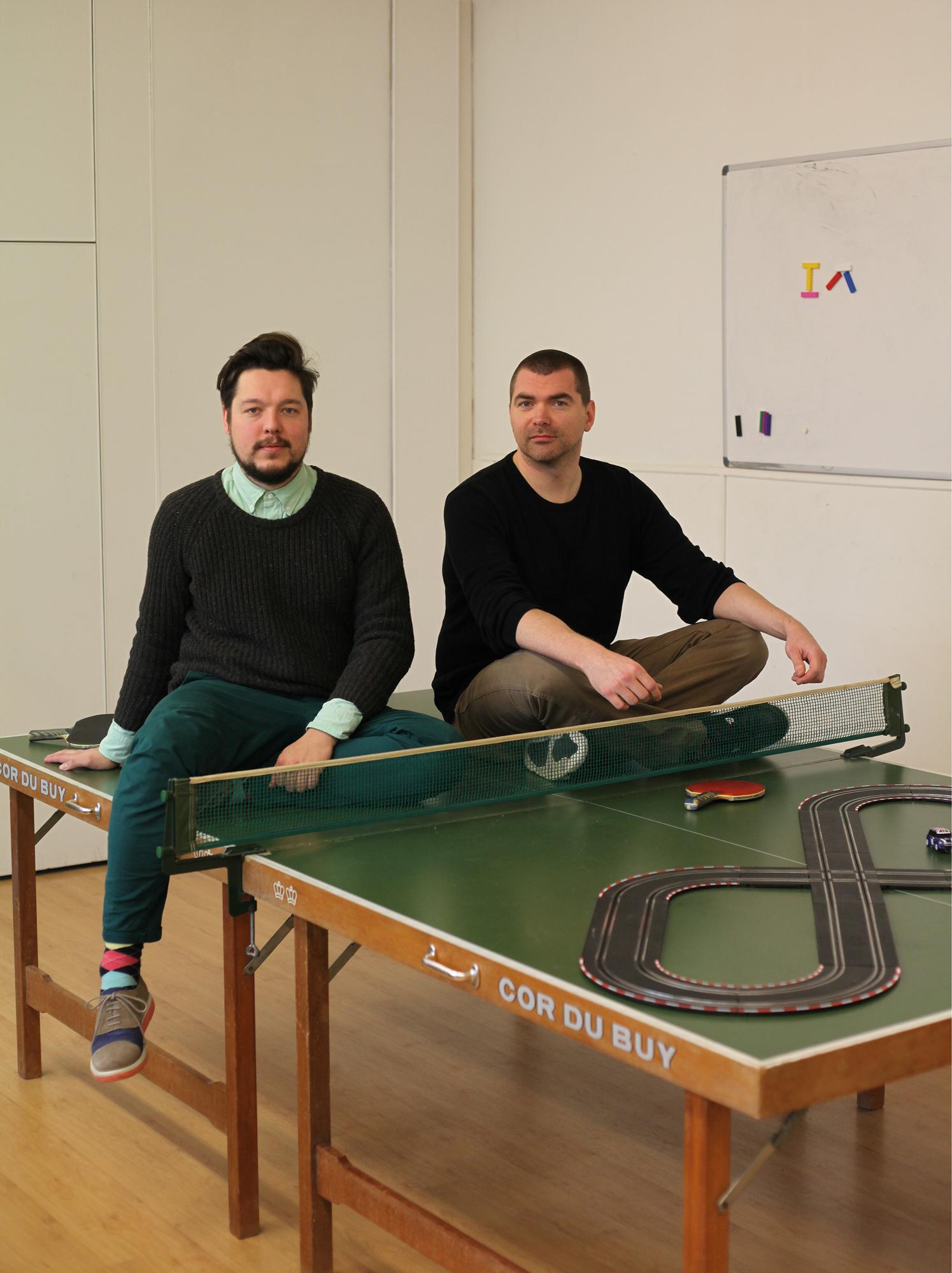 Tweederde van de jongens achter The Incredible Machine: Marcel (links) en Harm.