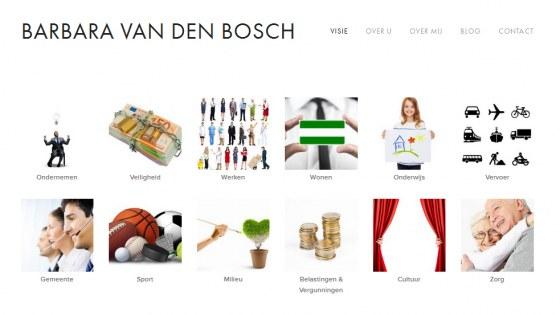 Homepage van VVD'er Barbara van den Bosch