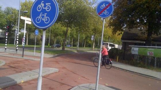 Kortste fietspad In Zicht
