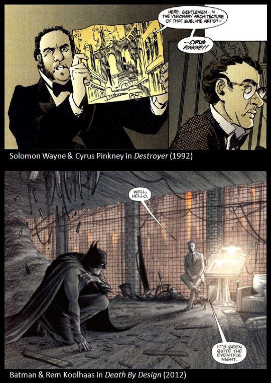 Batman & 'Kem Roomhaus' uit Death By Design (2012) en Destroyer (1992)
