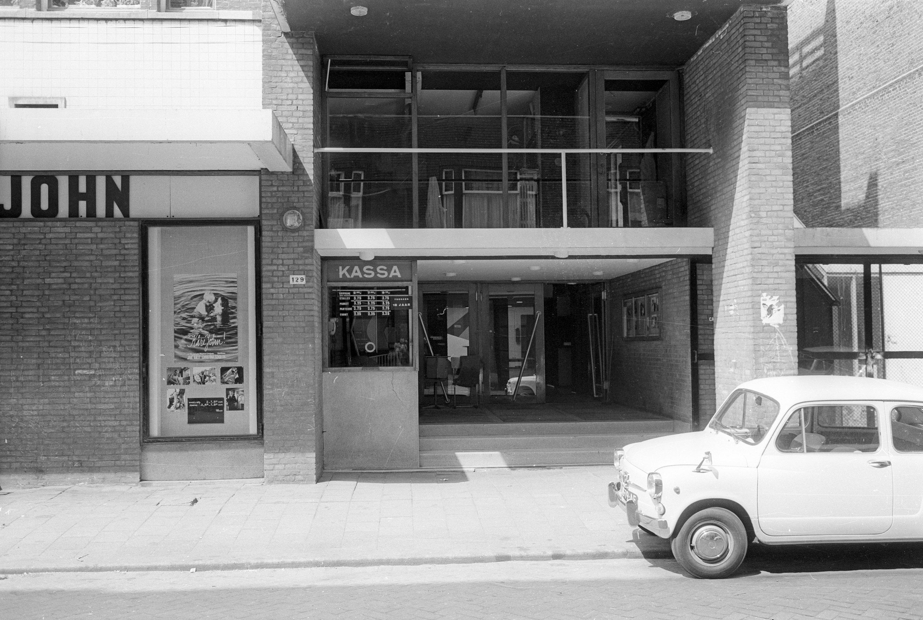 Entree van 't Venster in 1969. Beeld met dank aan stadsarchief Rotterdam