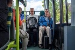 Parkshuttle, de passagiers