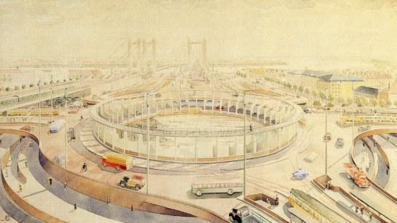 vers-beton-rotterdam-wederopbouw-verkeersplein-tekening-stadsarchief