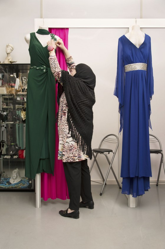 Portet eigenaresse kledingreparatie Aladin