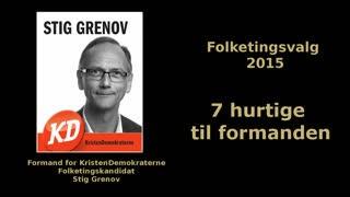 7 hurtige til formanden for KristenDemokraterne