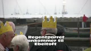 Regentparret ankommer til Ebeltoft
