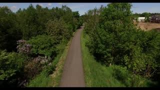 Cykelsti mellem Ryomgård og Auning