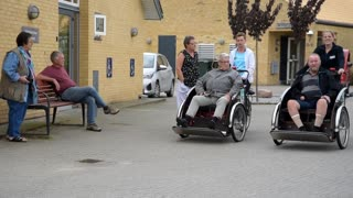 Cykeltræf i Plejecenter Lyngparken i Knebel