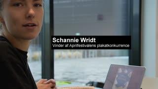 Schannie Wridt fortæller om sine idéer til vinderplakaten til Aprilfestival 2018