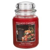 Happy Holiday Premium 26oz (1219g) Fragranced Candle Jar