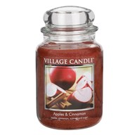 Apples & Cinnamon Premium 26oz (1219g) Fragranced Candle Jar