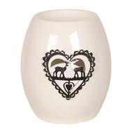 White Ceramic Reindeer Wax Melt Burner 11.5cm