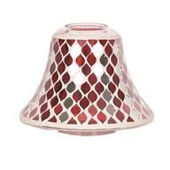Candle Jar Lamp Shade - Red Mirror Teardrop