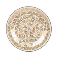 Candle Plate - Gold & Silver Glitter