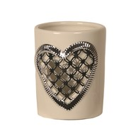 Ceramic Votive Holder - Heart