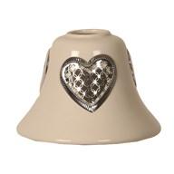 Candle Jar Lamp Shade - Ceramic Heart