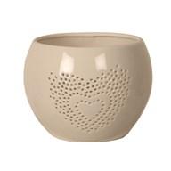 Ceramic Heart Tealight Holder 11.5cm