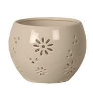 Ceramic Daisy Tealight Holder 11.5cm