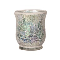 Hurricane Tealight Holder - Blue Crackle