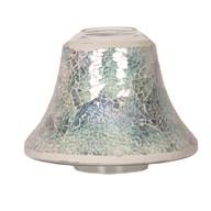 Candle Jar Lamp Shade - Blue Crackle